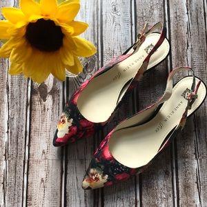 Anne Klein iflex floral kitten heels